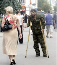 Бойовики без кінцівок жебракують на вулицях Донецька та Луганська