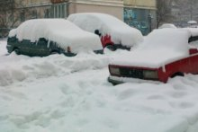 Небывалый снегопад обрушился на Черновцы