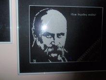 Українська майстриня вишила портрет Тараса Шевченка, що світиться в темряві