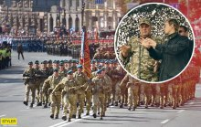 При демократической власти новых лиц военные отдают честь, а на парад сгоняют бюджетников и срочников. Вы же за это голосовали?